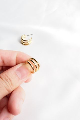 Mini Tri Hoops (Gold)