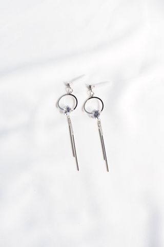Stella Bling Dangle Earstuds (Silver)