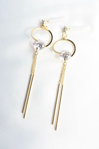 Stella Bling Dangle Earstuds (Gold)