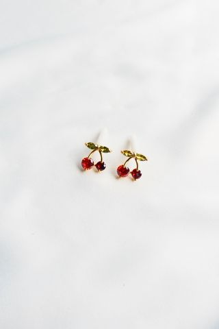 Mini Cherry Bling Earstuds
