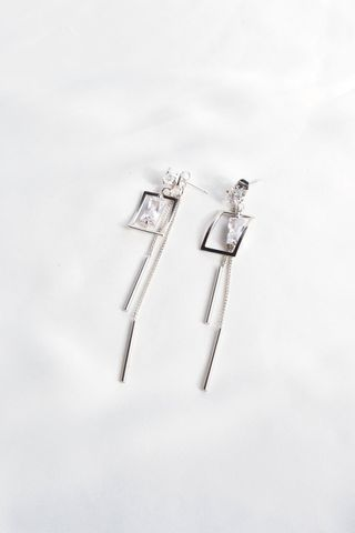 Demi 2 Way Bling Dangle Earstuds (Silver)