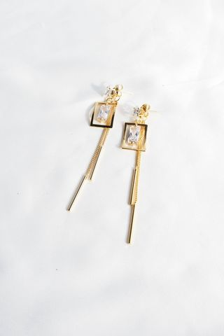Demi 2 Way Bling Dangle Earstuds (Gold)