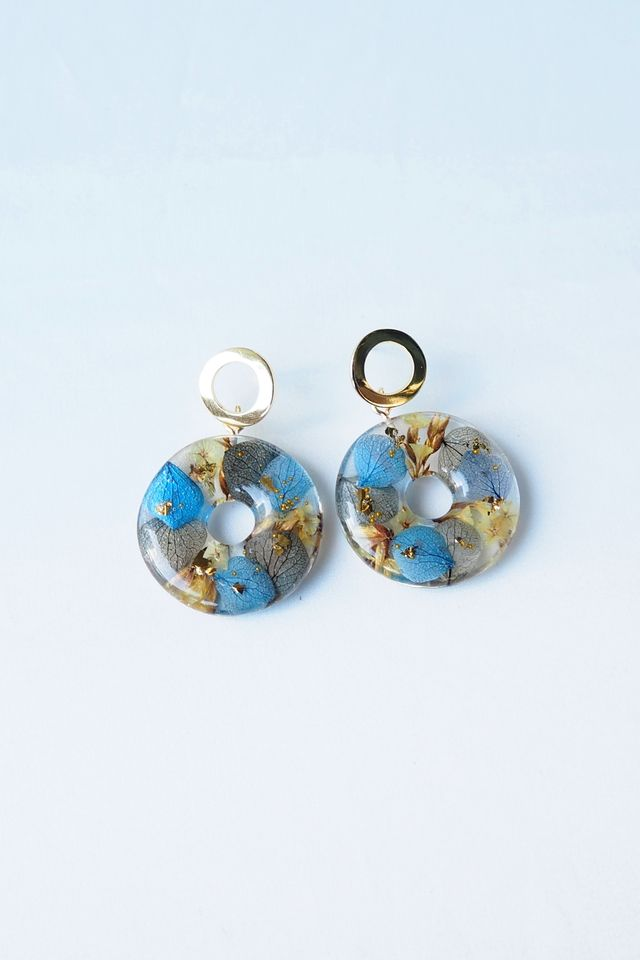 Nellie Flower Earstuds (Blue)