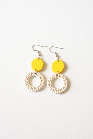Angie Earrings (Yellow)