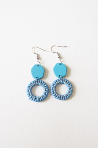 Angie Earrings (Blue)