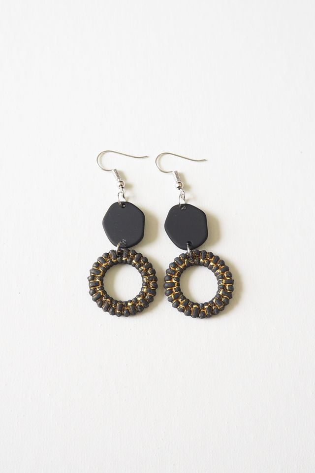 Angie Earrings (Black)