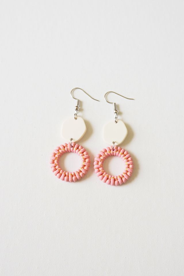 Angie Earrings (Pink)
