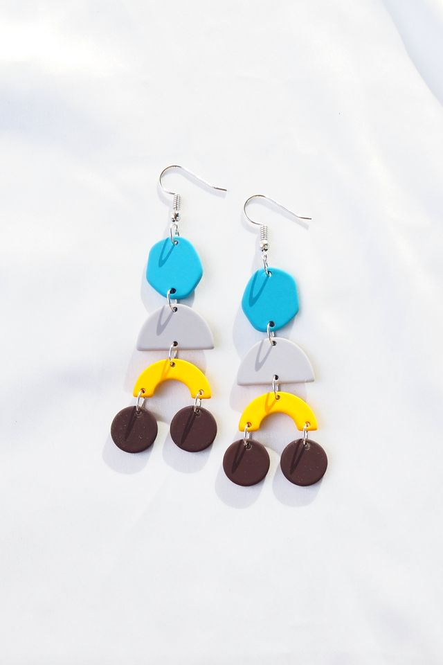 Elkie Earrings (Blue)