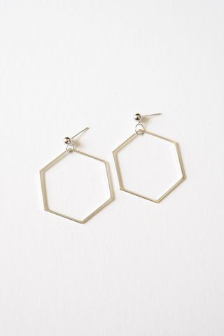 Hexagon Earstuds