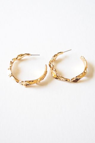 Jagged Hoops (Gold)