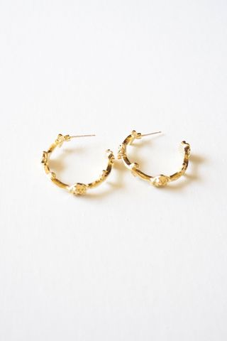 Mini Rose Hoops