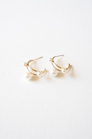 Pearl Layered Hoops