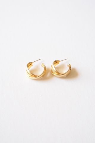 Criss Cross Hoops (Gold)