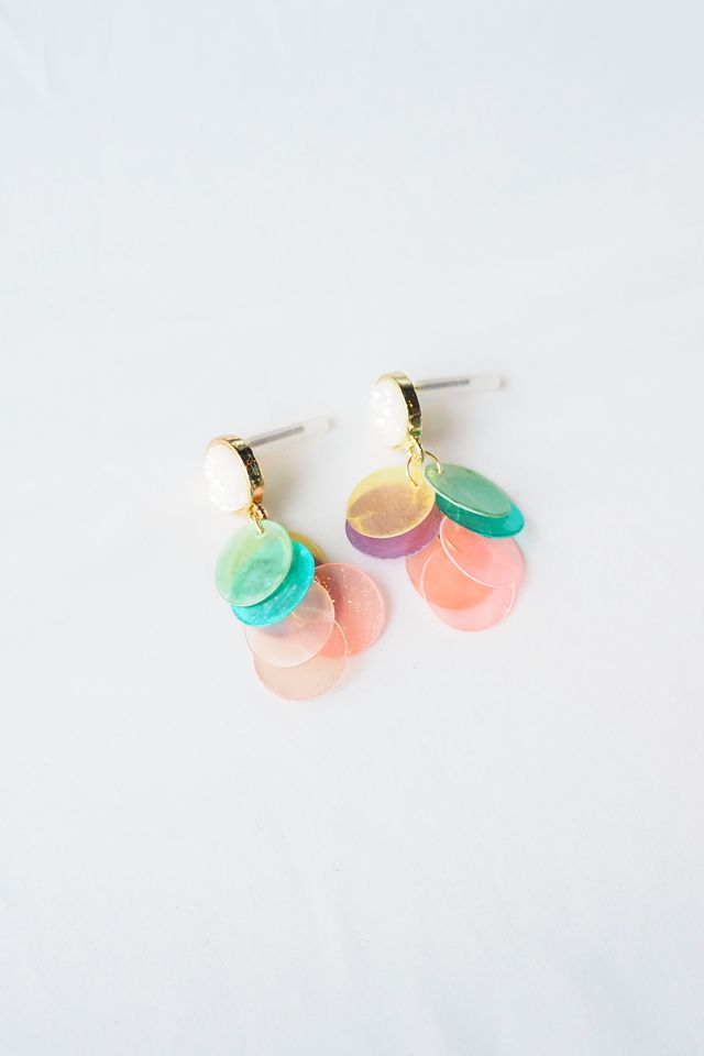 Gradient Layered Shell Earstuds (Rainbow)