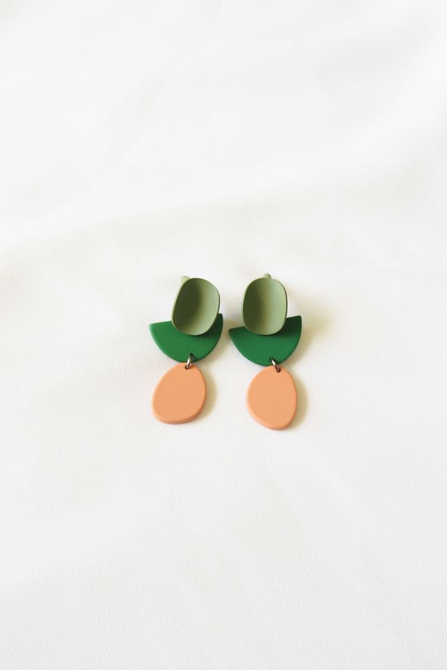Klaudine Mini Earstuds (Green)