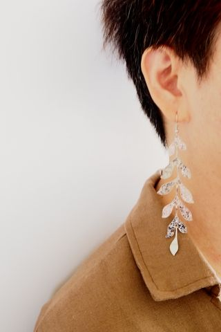 Leafy Earrings (Silver)