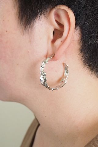 Jagged Hoops (Silver)