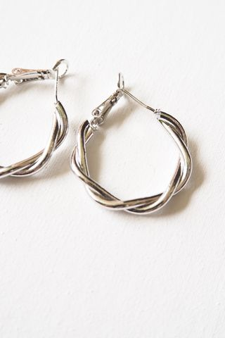 Twisted Hoops (Silver)