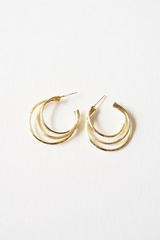 Trio Criss Cross Hoops (Gold)
