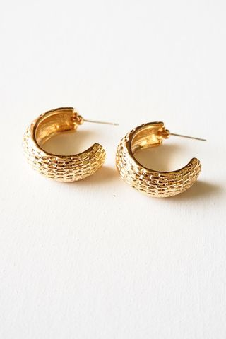 Textured Chunky Hoops