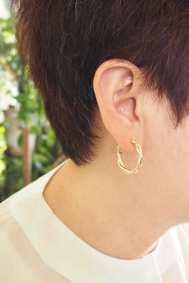 Twisted Hoops (Gold)