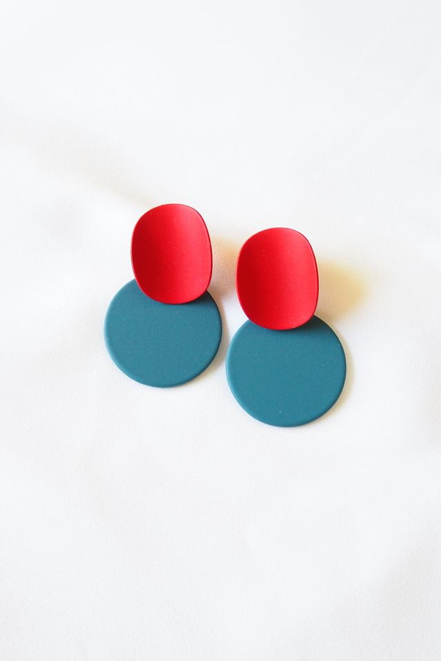 Cien Colourblock Earstuds (Navy)