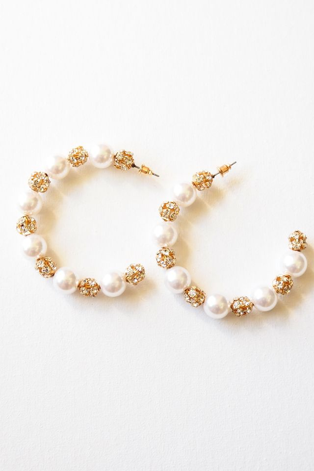 Pearl & Bling Hoops