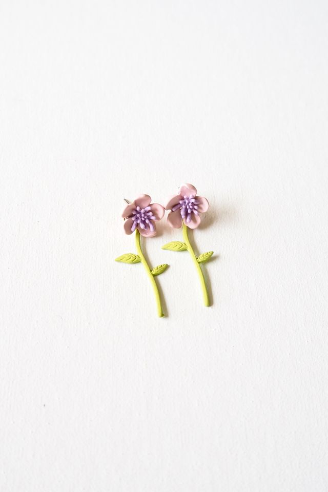 2 Way Mini Flower Earstuds (Pink)