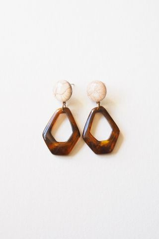 Mini Lorene Earstuds (Brown)