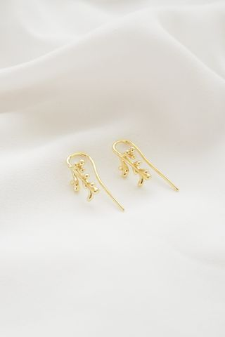 Leafy Hook  Earrings