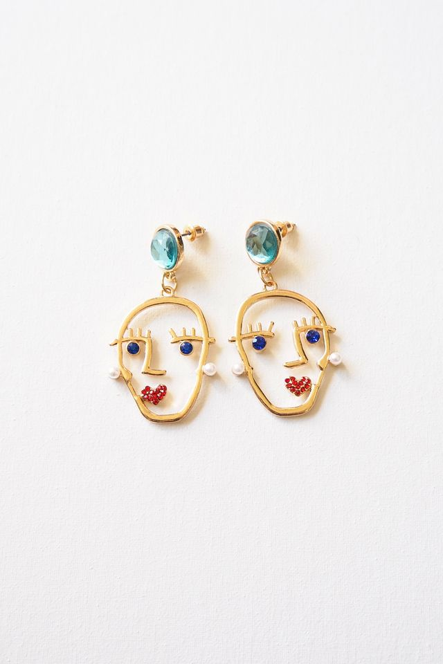 Bejewelled Face Earstuds