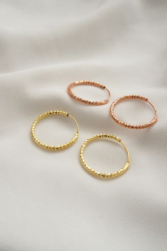 Sheena Hoops (Rose Gold)
