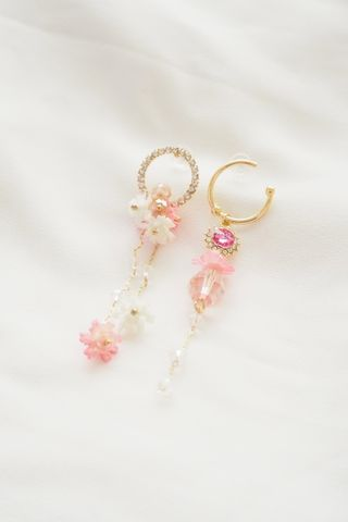 Fanny Mismatched Earstuds (Pink)