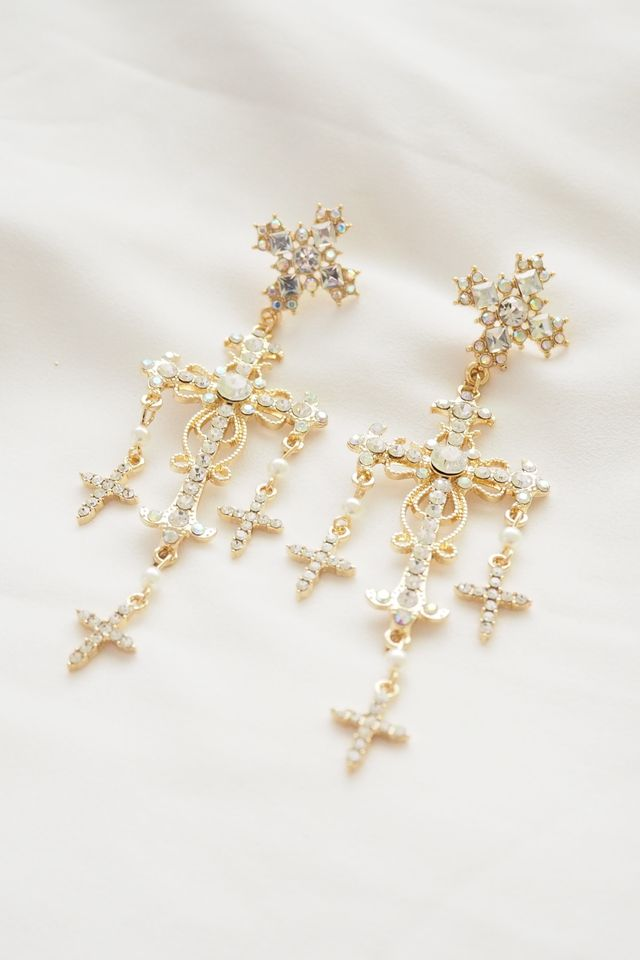 Cross Earstuds (Gold)