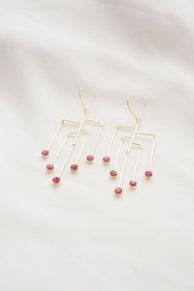 Chandelier Gem Earrings