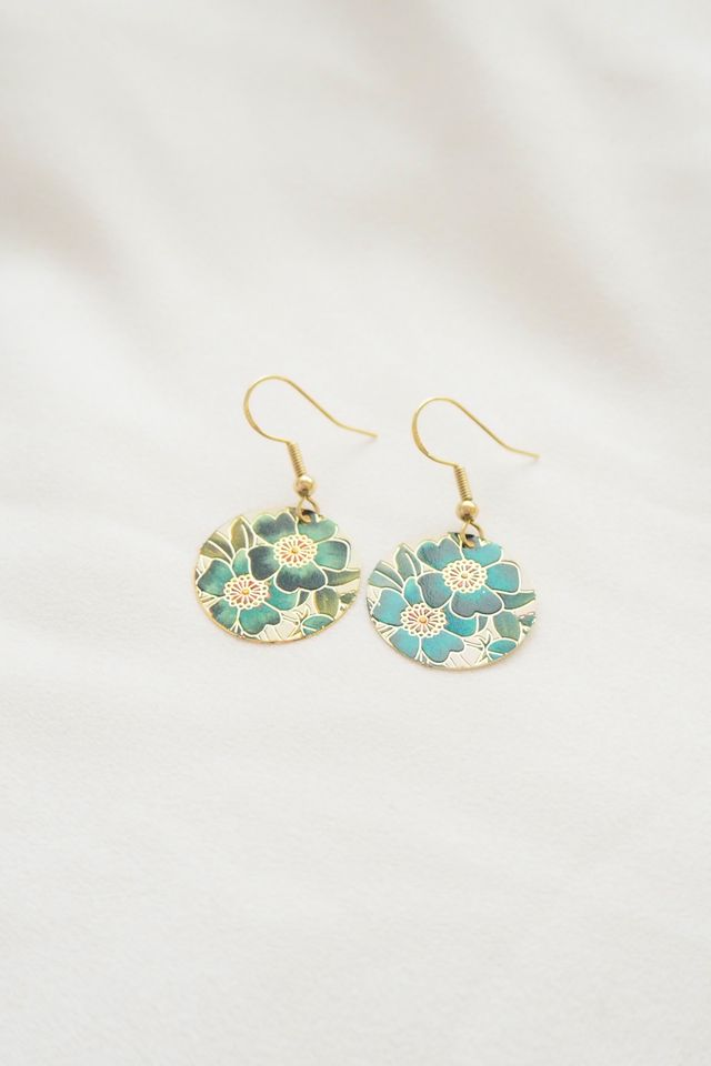 Mini Oriental Earrings (Teal)