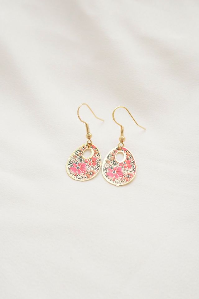 Mini Oriental Earrings (Pink)