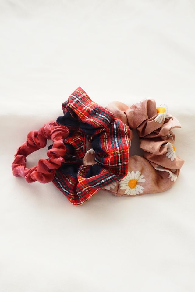 Scrunchies Set (Plaid)