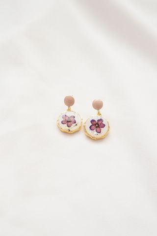 Joey Flower Earstuds (Purple)