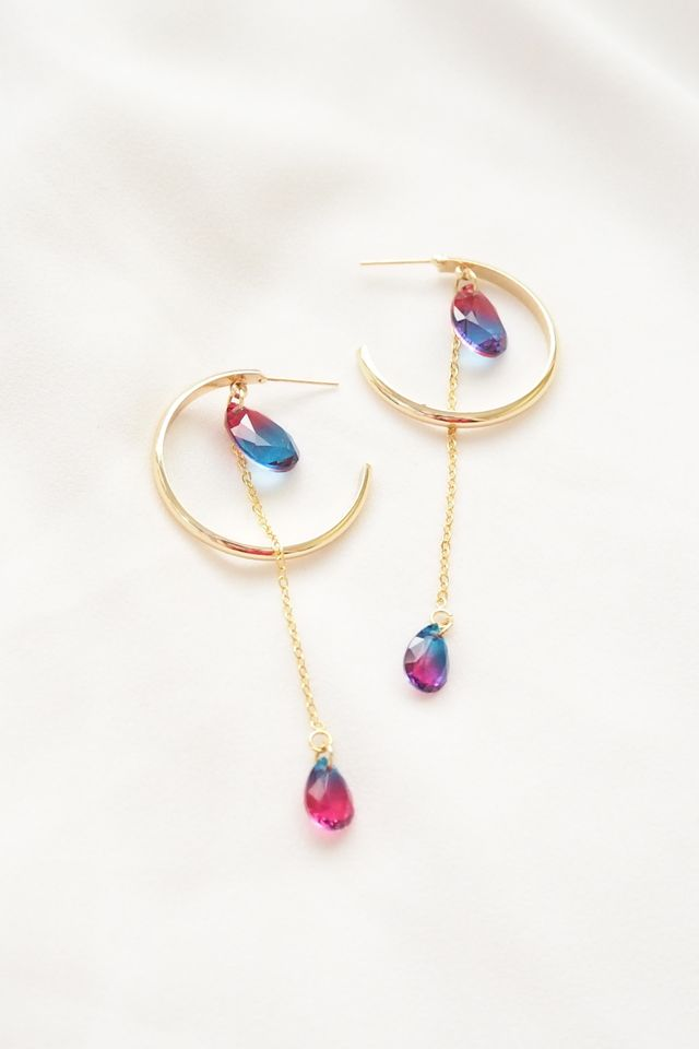 Ombre Gem Hoops
