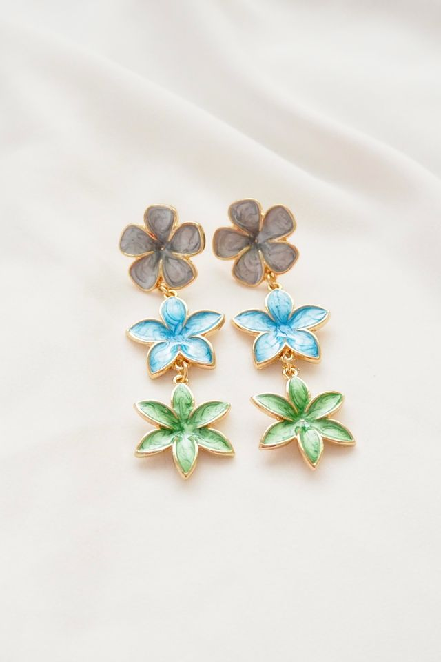Ell Flower Trio Earstuds (Tropical)