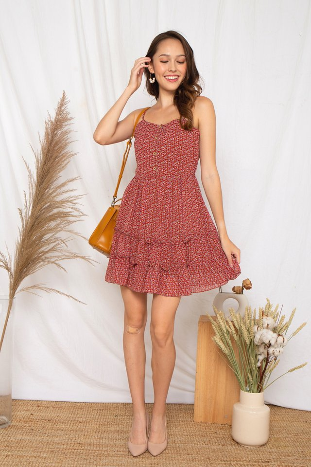 Floral Tiered Dress (Rose)