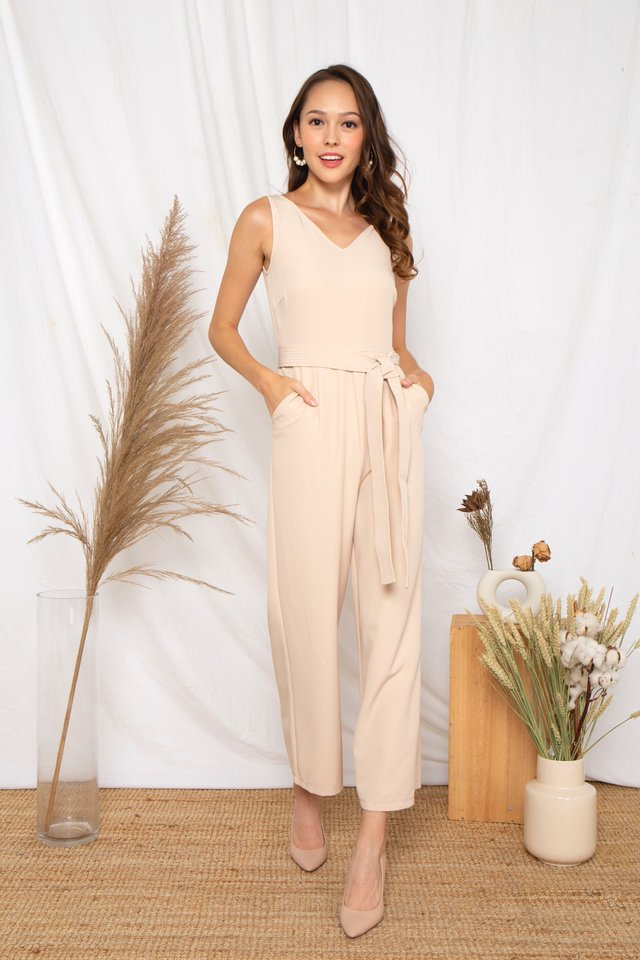 Ellyna Jumpsuit (Beige)
