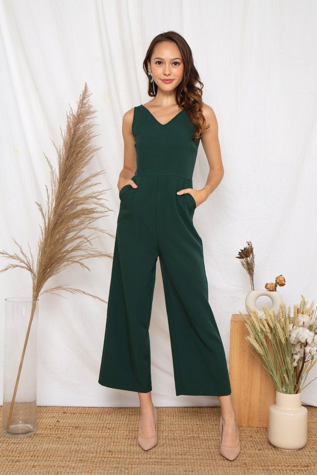 Ellyna Jumpsuit (Forest)