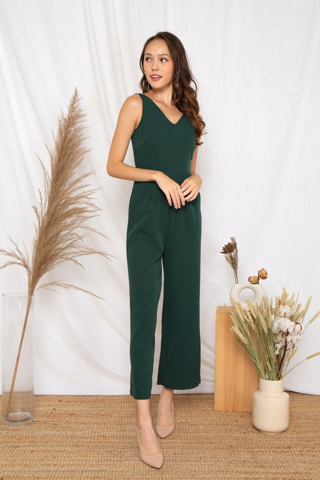 Ellyna Jumpsuit (Forest) [Size XS - XL]