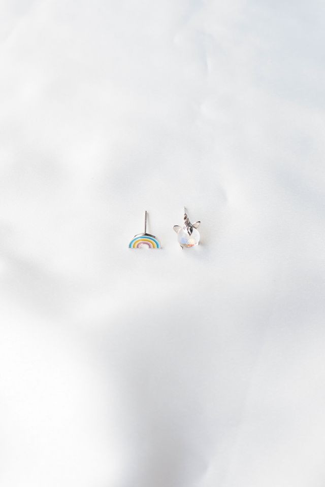 Rainbow & Unicorn Earstuds