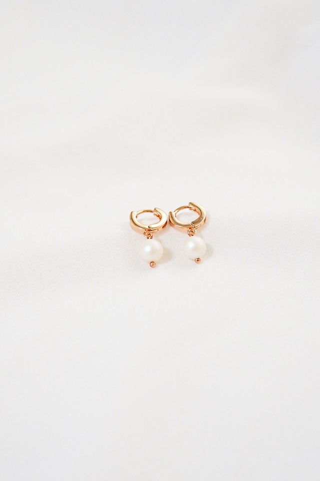 Rose Gold Huggies (Pearl)