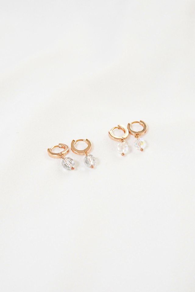 Rose Gold Huggies (Silver)