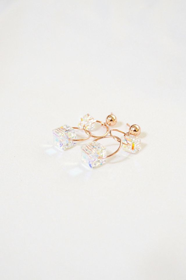 Cel Crystal Layered Earstuds