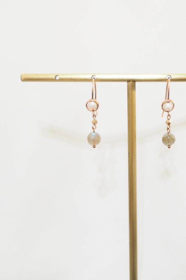 Tianna Moonstone Dangle Earrings